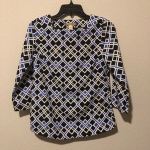 Banana republic geometric blouse